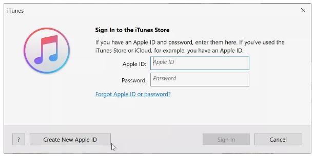 créer un nouvel identifiant apple