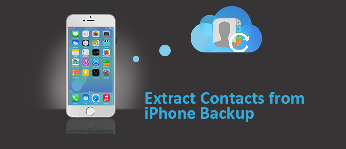 extrahera kontakter från iphone backup