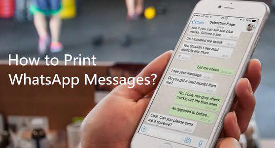 Jak drukować wiadomości WhatsApp