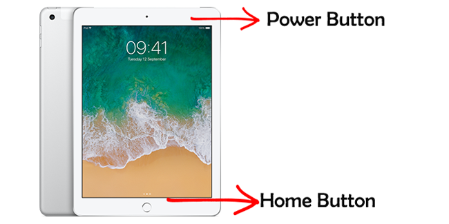 ipad power and home button