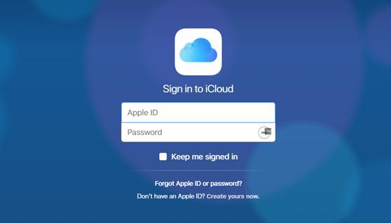 Přihlásit se iCloud