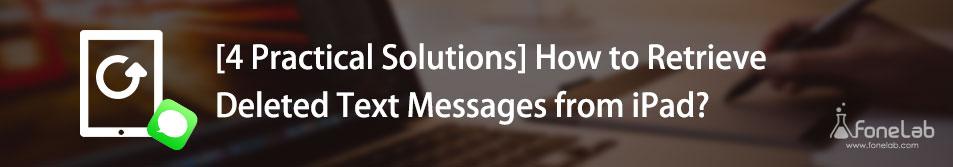 récupérer des messages texte ipad