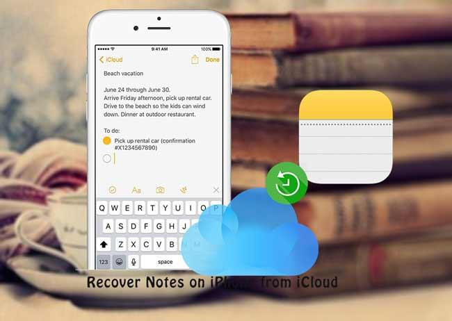récupérer des notes iphone de icloud