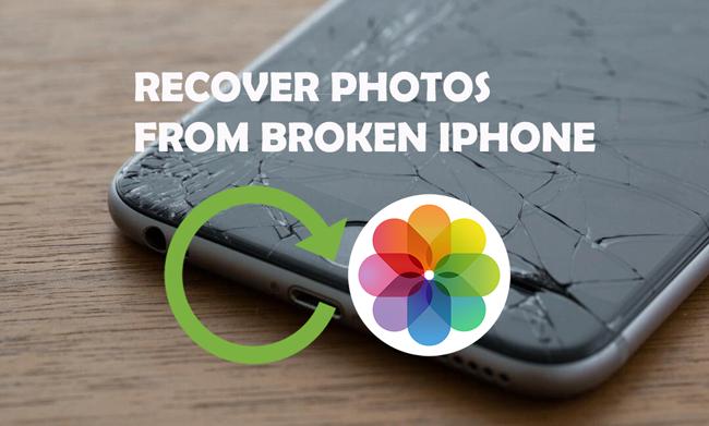 återhämta bilder från trasig iPhone