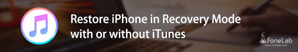 Gendan iPhone i genoprettelsesfunktion