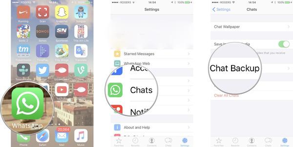 verifique o backup do WhatsApp iCloud