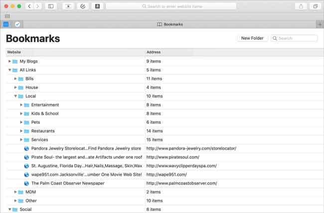 Stellen Sie iPad Safari Lesezeichen mit TimeMachine wieder her