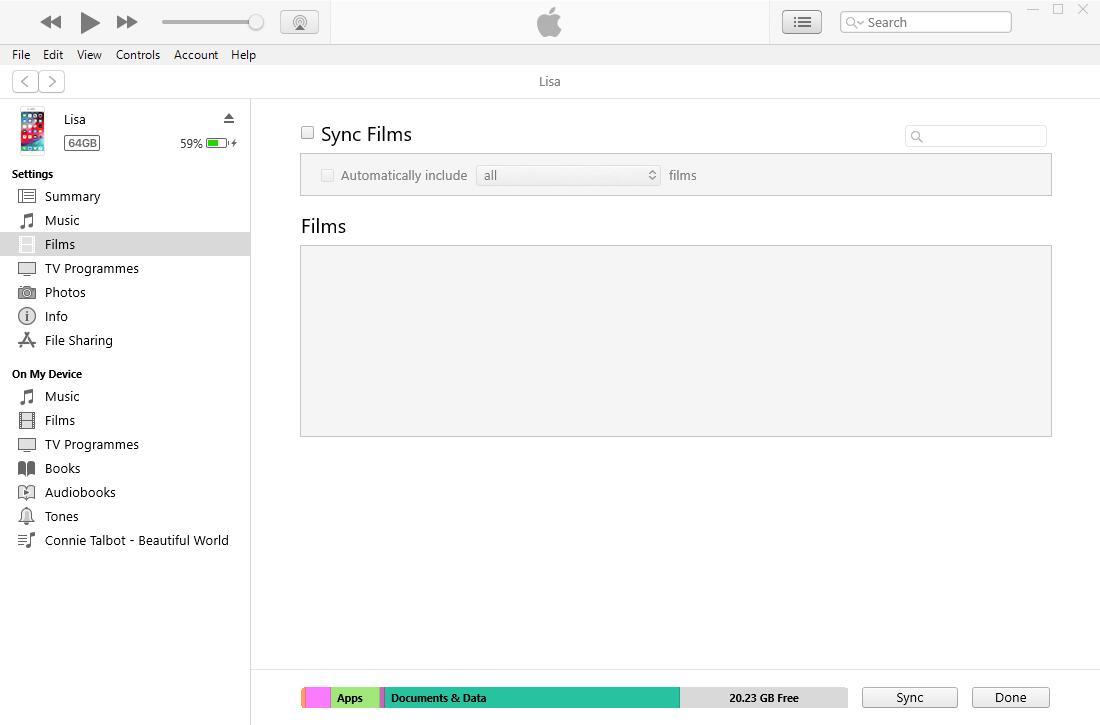 synkronisera iphone-data