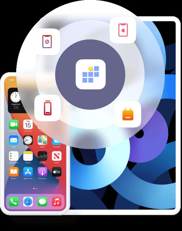 FoneLab iOS σύστημα ανάκτησης Desktop Banner