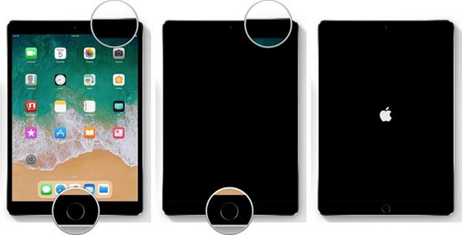 zrestartuj iPada