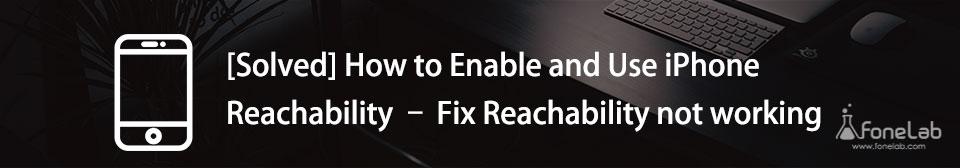 använd iPhone Reachability