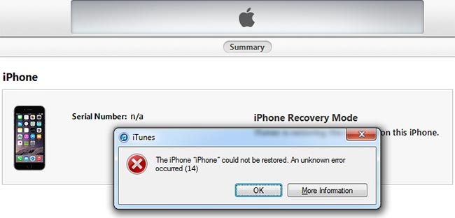 iPhone and iTunes Errors Fix
