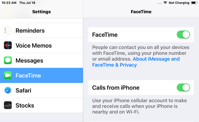How to Call from iPad calling facetime