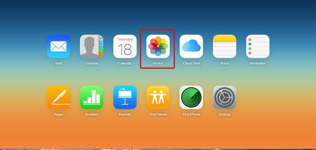Klik på Fotos ikon