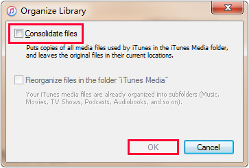 Konsonszidált iTunes fájlok