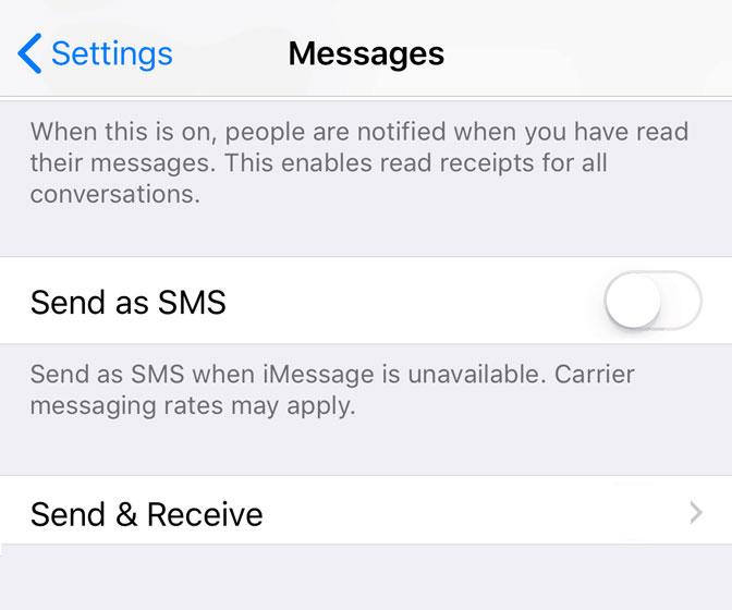 Hogyan lehet leválasztani az iPhone készüléket az iPad átváltásáról, a küldés és fogadás megkönnyítéséről