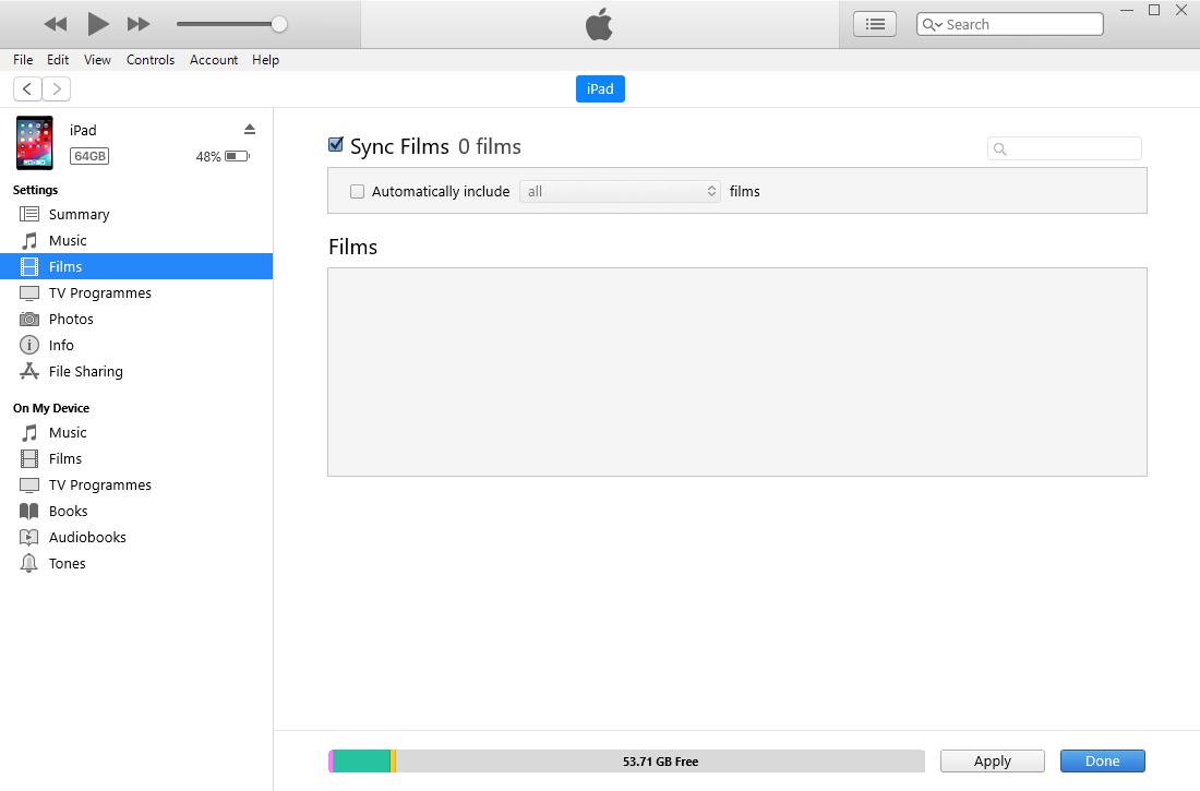 aktiver synkroniser film ipad til iTunes