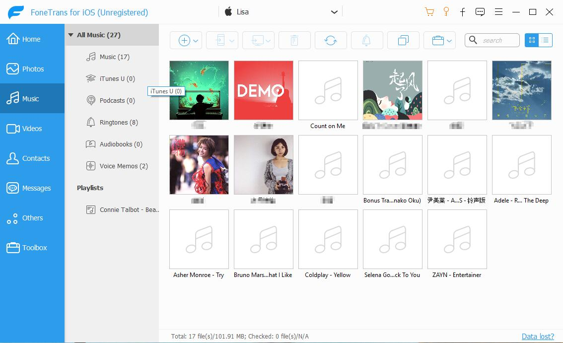 eksportuj utwory do iPhone'a