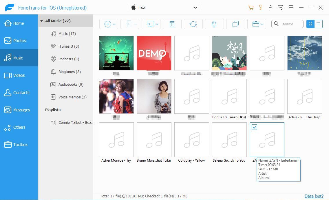 Songs auf den PC exportieren