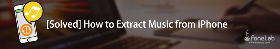 wyodrębnij muzykę z iPhone'a