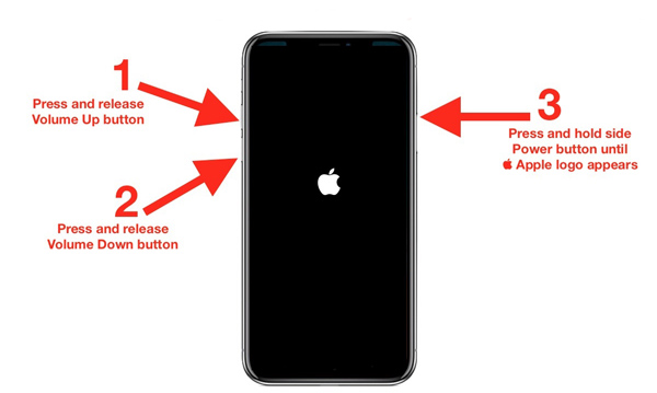 uruchom ponownie iPhone'a