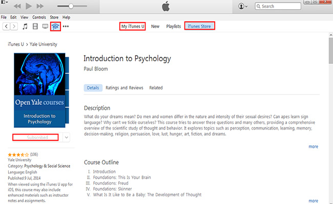 iTunes U kurzusok