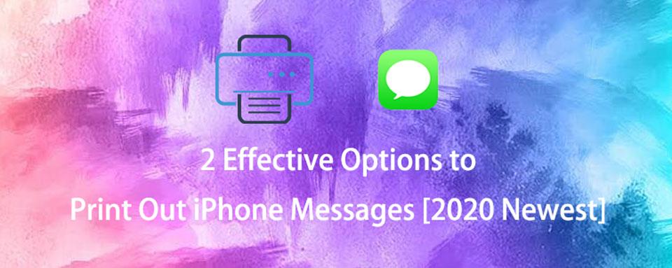 wydrukuj wiadomości iPhone'a