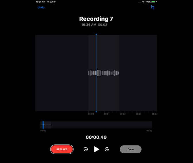 How to Record Audio on iPad by Using Voice Memos replace