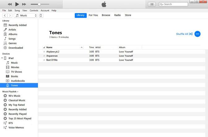 инструмент создания рингтонов экспортировать рингтон в iTunes