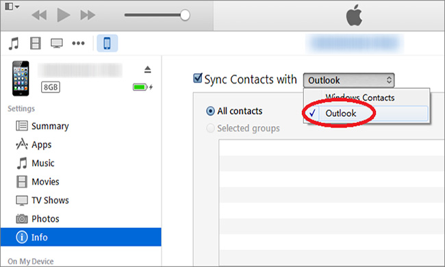 sync outlook contacts with iphone how to sync outlook contacts to iphone 18059