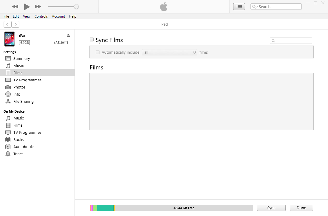synchronizuj film ipad z iTunes