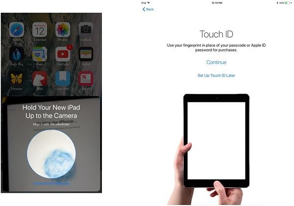 Przesyłaj dane z jednego iPada do innego za pomocą funkcji Auto Setup