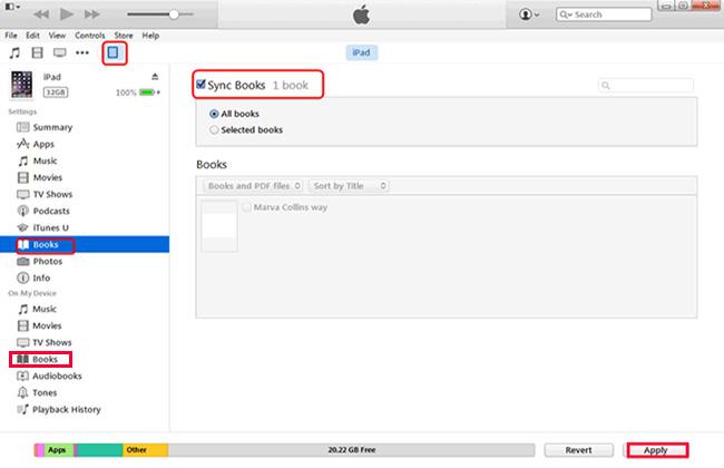 Przenieś plik PDF za pośrednictwem iTunes