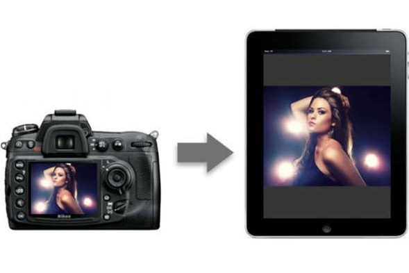 Overfør fotos fra kamera til iPad