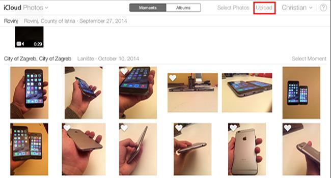 Fotók feltöltése iPhone-ra