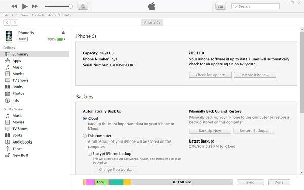 Verbinden Sie das iPhone mit iTunes