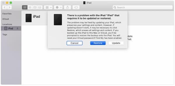 Wiederherstellen des iPad mit iTunes
