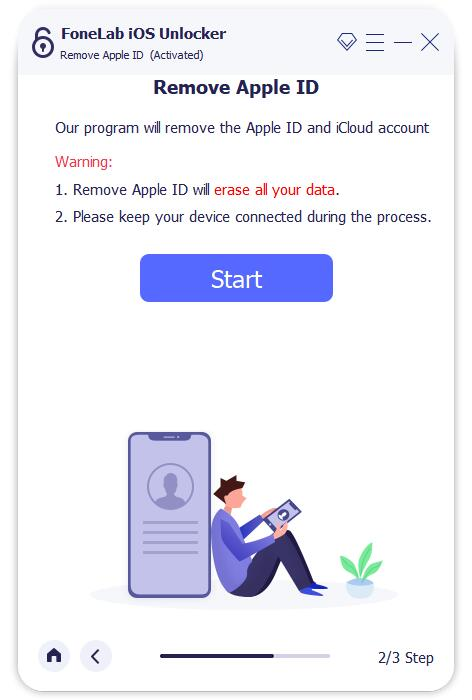 start to remove apple id