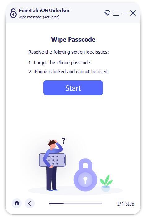 Beginnen Sie mit dem Löschen des Passcodes