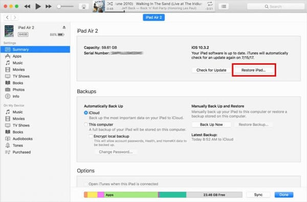 разблокировать ipad без пароля с помощью itunes