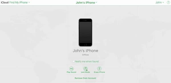 entsperre das iPhone mit finde mein iPhone