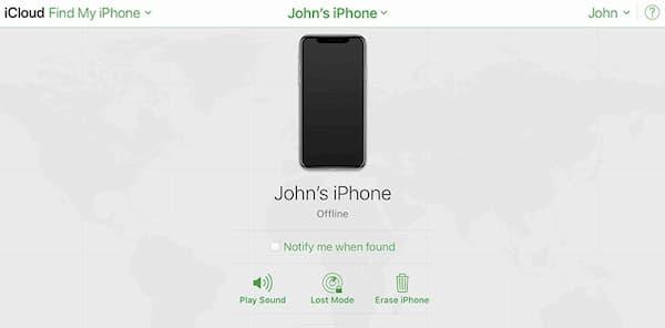 sblocca iphone con icloud