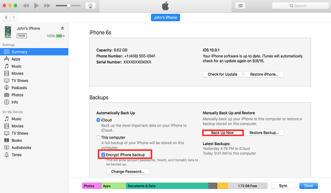 Säkerhetskopiera iPhone till Mac