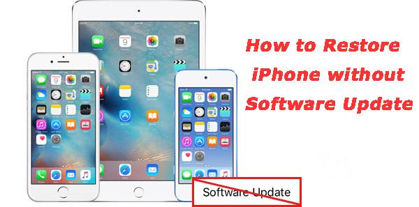 Restaurar iPhone sin actualizar