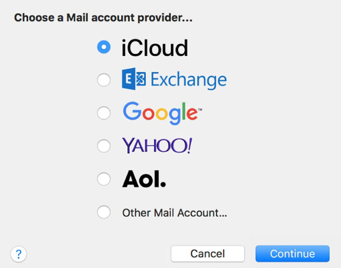 add email account to apple mail