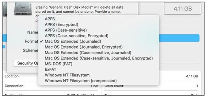 format harddisk på mac