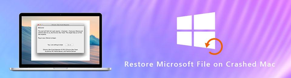 Abrufen von Microsoft-Dateien auf einem abgestürzten Mac