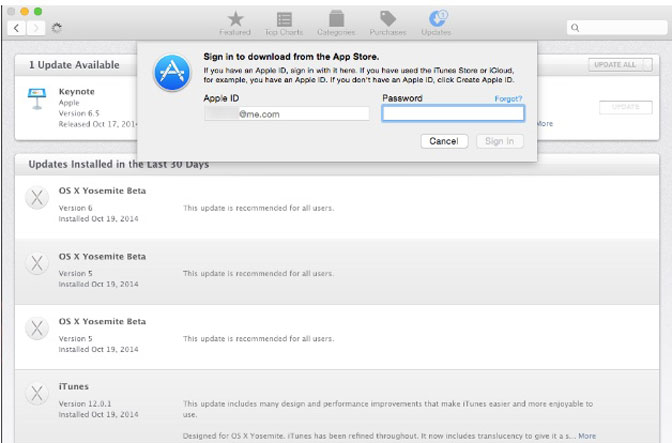 sign in app store on mac