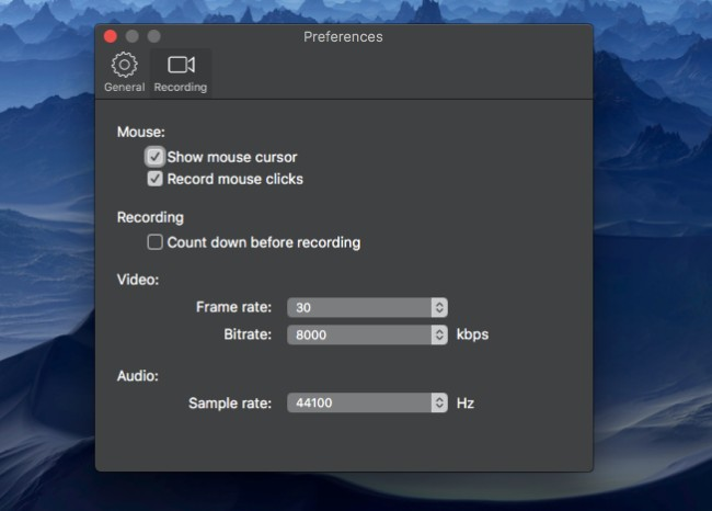 ajuster les paramètres d'enregistrement audio