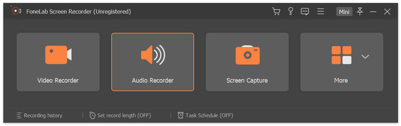 airplay recorder interface
